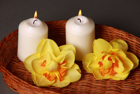 Canggu Villa Merah Bali Massage Candles
